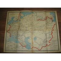 Схема железных дорог СССР 1968 год