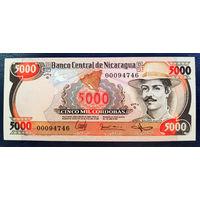 РАСПРОДАЖА С 1 РУБЛЯ!!! Никарагуа 5000 кордоба 1985 год UNC