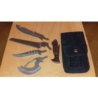 Нож туристический со сменными лезвиями (4 в 1)