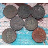 Российская Империя 2 копейки 1811-1813 года. Александр I. 7 монет! Предложите свою цену!