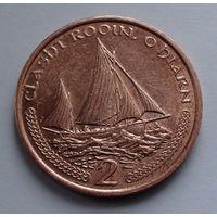Остров Мэн 2 пенса. 2000