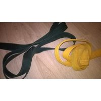 Пояс для кимоно желтый и зеленый