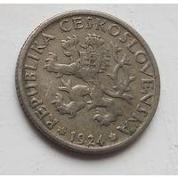 Чехословакия 1 крона, 1924 4-2-27