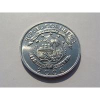 Либерия. 5 центов 2000 год /Год дракона/ km#474 UNC