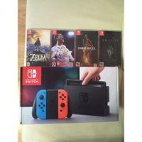 Игровая приставка Nintendo Switch + 4 игры
