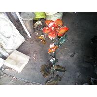 Цветок из металла