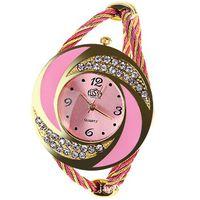 Часы-браслет с горным хрусталём tUSS розовые