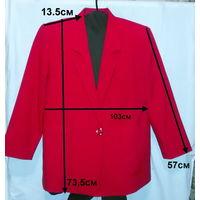Пиджак красный, р.50, как новый