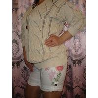 Свитер пуловер Tiffany 46-48 шелк хлопок