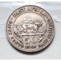 Британская Восточная Африка 50 центов, 1948 3-10-15