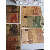 Набор золотых евро.