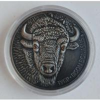 Эксклюзив! Зубр, 20 рублей 2012, Серебро, Ag 999, антик-финиш