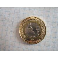 Мавритания 1 франк 2014г.