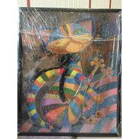 Картина интерьерная кот (алмазная вышивка) 500х400