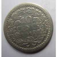 Нидерланды. 10 центов 1917. Серебро.  242