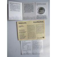 Сьерра-Леоне. 10 леоне 1987 Карликовый бегемот, серебро, Пруф,   .Р.4