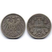 1 марка 1892 F, Германия, Штутгарт. Более редкий год и монетный двор
