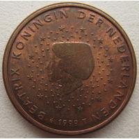 Нидерланды 1 евроцент 1999 г.