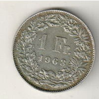Швейцария 1 франк 1963
