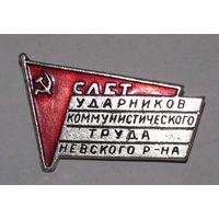 Слет ударников коммунистического труда Невского р-на