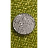 ВАТИКАН 100 лир 1990 г ( ИОАНН ПАВЕЛ II )