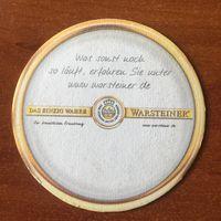 Подставка под пиво Warsteiner No 34