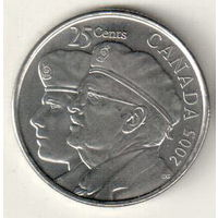 Канада 25 цент 2005 Год ветеранов