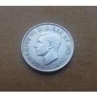 Канада, 50 центов 1945 г., Георг VI (1936-1952), серебро