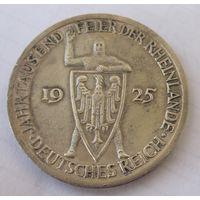 Германия, 3 марки, 1925, серебро