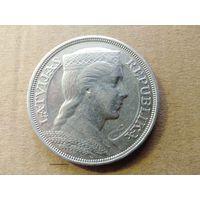Латвия, 5 лат 1931 г., Милда, серебро