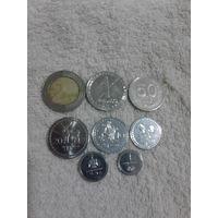 Грузия полный набор монет 8 шт. распродажа