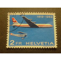 Швейцария. 1969г. Авиация.
