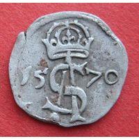 Двуденарий 1570 г. Сигизмунд II Август, Тикоцин, Коп.#3231