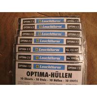 Листы для банкнот  ОPTIMA 1s;2s;3s;4s;5s упаковка (10шт.), черные, новые, двухсторонние.