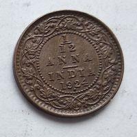 Индия - Британская 1/12 анна, 1924 Бомбей 3-5-24