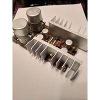 Платы выпрямителей от проигрывателя и транзисторы на радиаторах