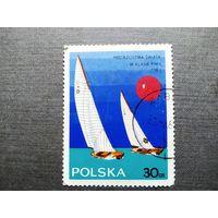 Марка Польша 1965 год. Парусный спорт