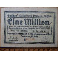 1 миллион марок 1923г. Дрезден
