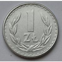 Польша 1 злотый, 1986 г.