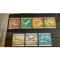 Самолеты, авиация, воздушный флот, транспорт, техника, марки, Монголия, 1980