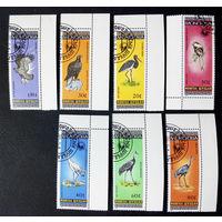Монголия 1985 г. Птицы. Фауна, полная серия из 7 марок #0087-Ф1P18
