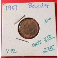 Боливия, 1 боливиано, 1951г.