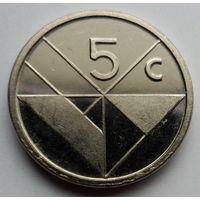 """Аруба 5 центов 1991 """"Герб"""""""