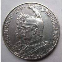 Германия. 2 марки 1901. Серебро. 427