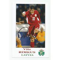 Vits Rimkus(Латвия). Живой автограф на фотографии.