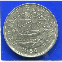 Мальта 25 центов 1986