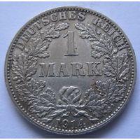 Германия 1 марка 1914 отметка монетного двора A - Берлин