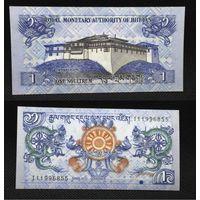 Банкноты мира. Бутан,  1 нгултрум