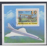 [398] Чад 1978. Авиация.Самолеты. Гашеный блок.