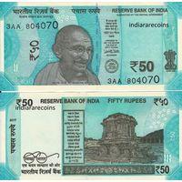 Индия 50 рупий образца 2017 года  UNC